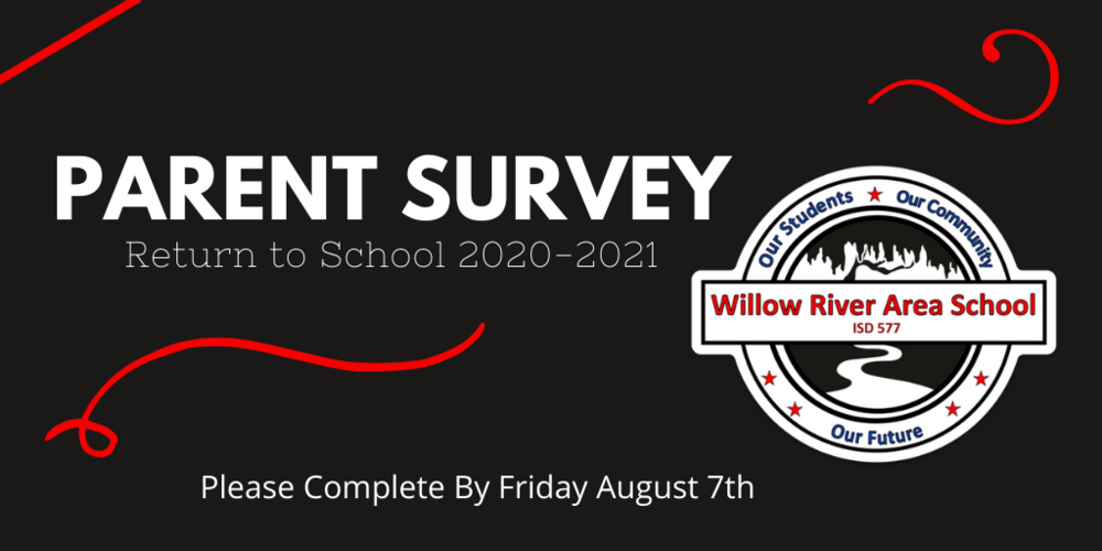 Survey Now Available to Willow River Area School Families