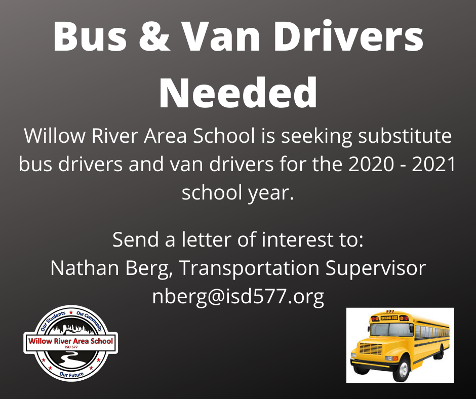Substitute Drivers Needed
