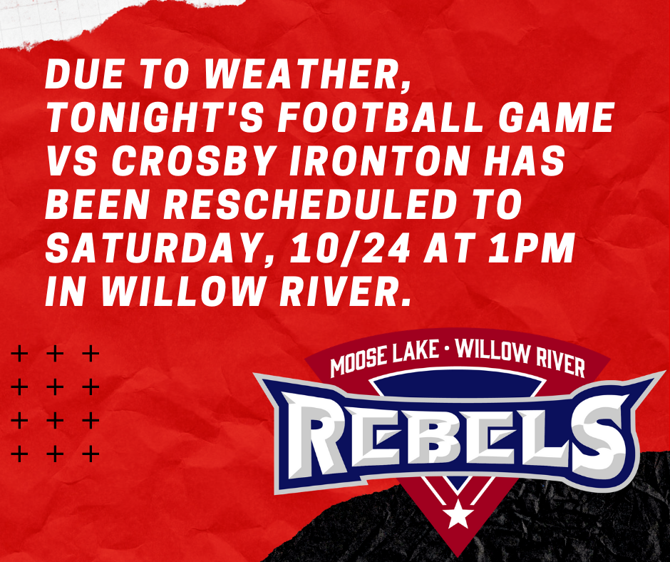 Football Rescheduled
