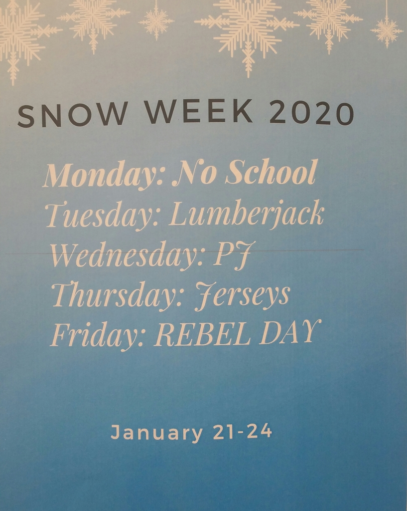 Snow Week Schedule
