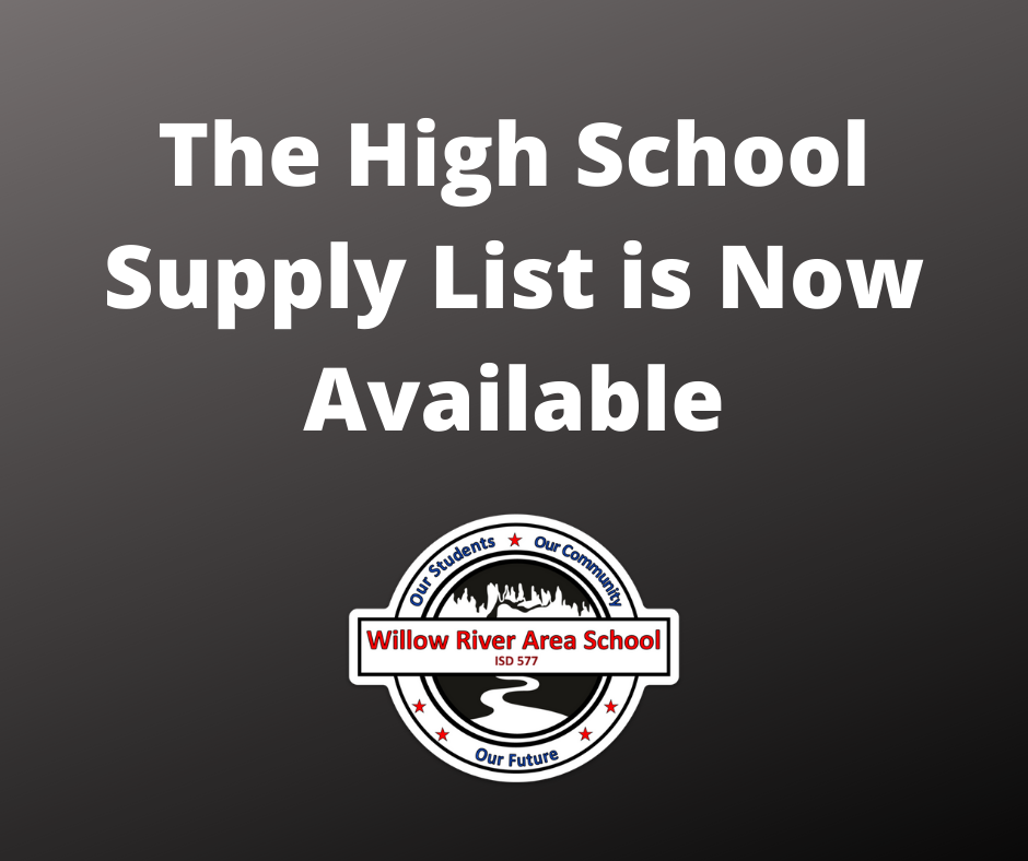 High School Supply List